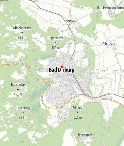 """Kaart / Stadtrundgangs - Informationstafel """"Alter Markt"""""""