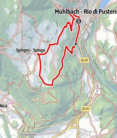 Cartina / Da Rio di Pusteria a Spinga