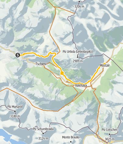 Karte / Tras la Val Müstair (Sergios Geheimtipp)