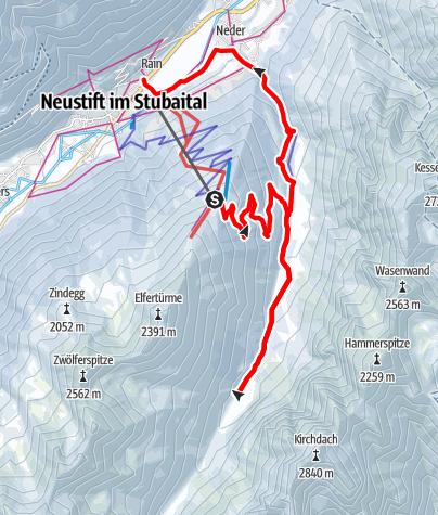 Mapa / Rodel und Schneeschuh Kombitour