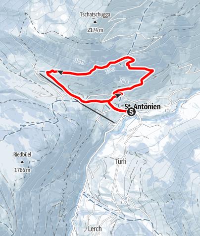 Map / Rundtour Älpli - Junker (markierter Trail Nr. 21)