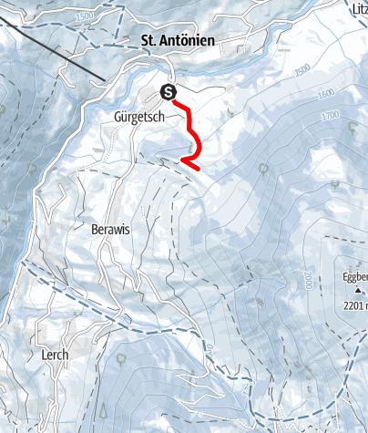 Karte / Kleine Gürgetschwald-Tour (markierter Trail Nr. 20)