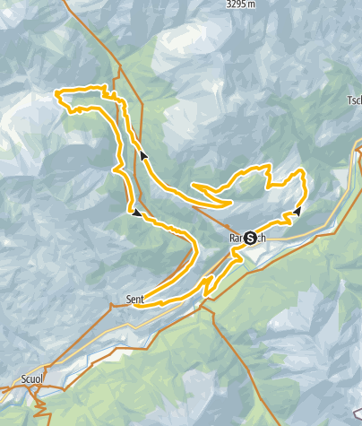 Carte / Ramosch Sent Route