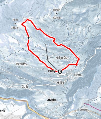 Map / Tüfelstein - Promisaun Rundtour (markierter Trail Nr. 12)
