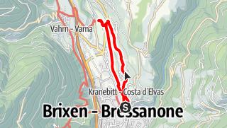 Karte / Promenadenwanderung am Sonnenhang von Kranebitt bei Brixen