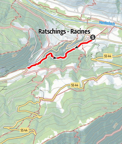 Map / From Stanghe|Stange through the Gilfenklamm Gorge