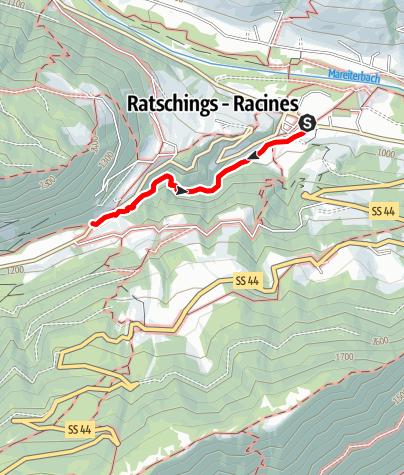 Mappa / Le Cascate di Stanghe (Gilfenklamm)