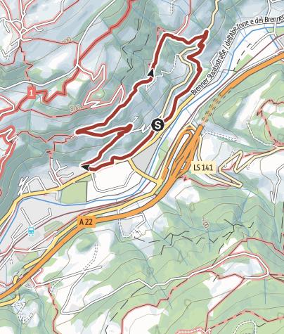 Cartina / Il Sentiero escursionistico del Vino a Chiusa