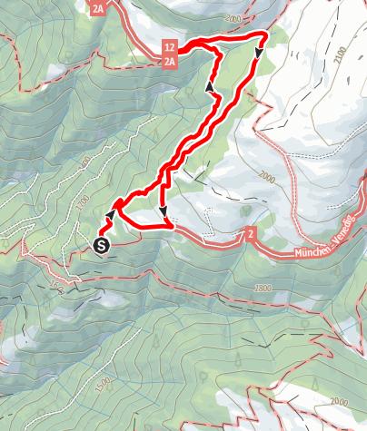 Mapa / Zur Kreuzwiesenhütte auf der Lüsner Alm