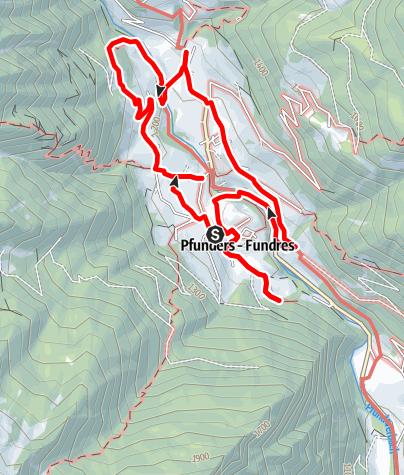 Karte / Höfeweg in Pfunders