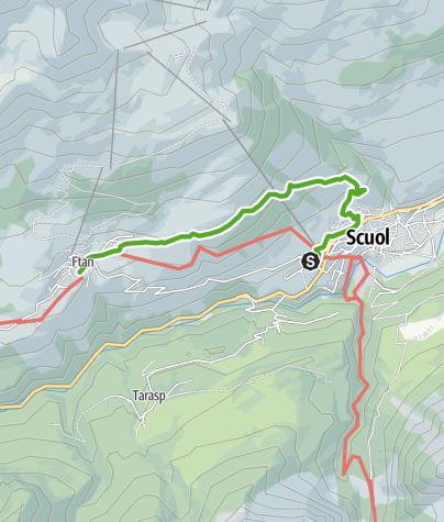 Karte / über Flöna nach Ftan