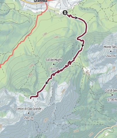 Map / 11 DAMIANA BIVOUAC via the Cadini saddle - Sappada
