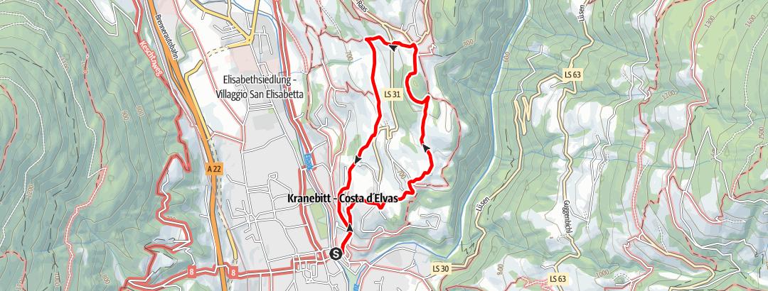 "Map / On the ""Archeopfad"" Trail around Bressanone Brixen"