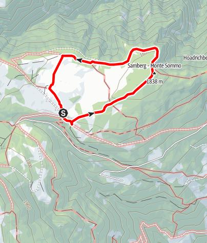 Karte / Die Hochmoore auf der Villanderer Alm