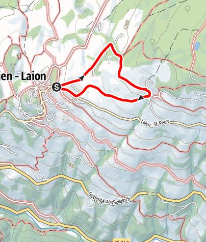 Mapa / Von Lajen nach Tschöfas