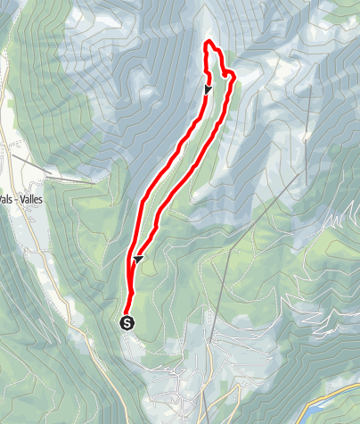 Cartina / Giro della valle alpestre Altfasstal a Maranza