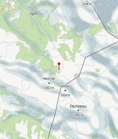 "Map / Mountain lodge ""Volujak"" at Papin do"