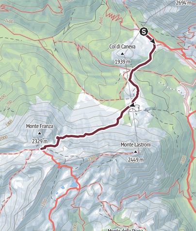 Map / 31 FORCELLA FRANZA from the Val Sesis - Sappada