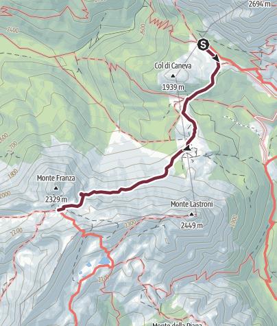 Karte / 31 FRANZAJOCH vom Val Sesis - Sappada