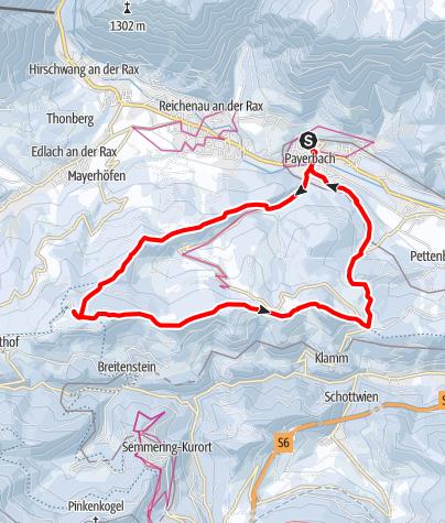 Térkép / Von Payerbach auf die Speckbacherhütte