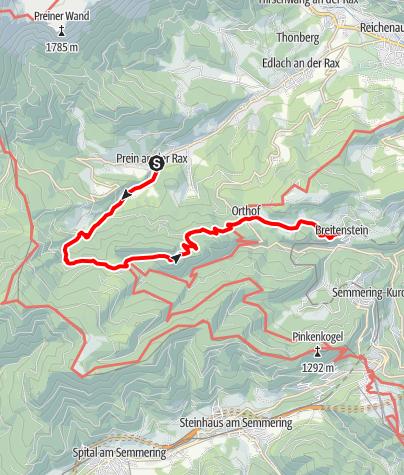 Térkép / Aus der Prein nach Breitenstein