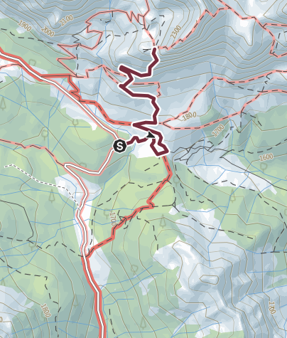 Karte / 33 WELTKRIEGSWEG EYNARD-GRAT - Sappada