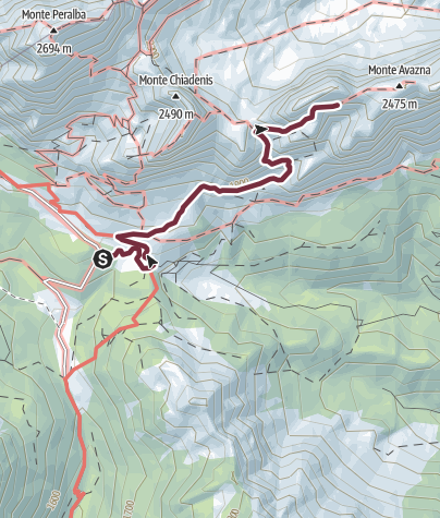 Map / 36 FORCELLA DELLE GENZIANE from the upper Val Sesis - Sappada