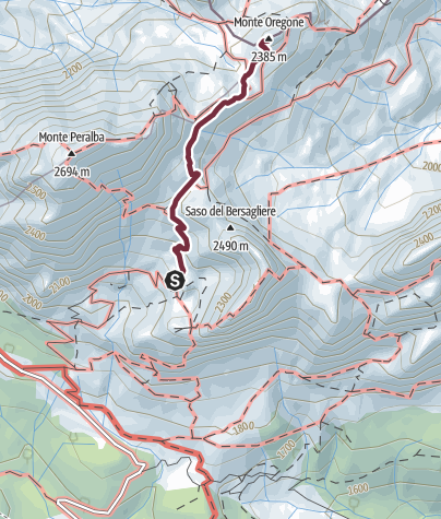 Map / 37 MONTE OREGONE  - Sappada