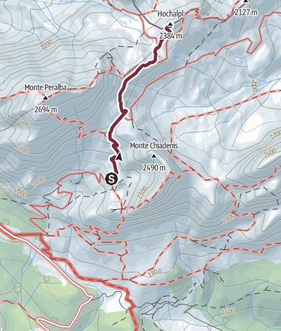 Karte / 37  HOCHALPL (MONTE OREGONE)  - Sappada