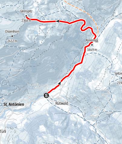 Karte / Girenspitz 2369m