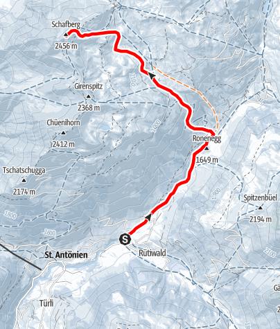 Karte / Schafberg 2456m