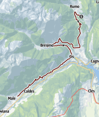 Cartina / Cammino Jacopeo d'Anaunia - III tappa