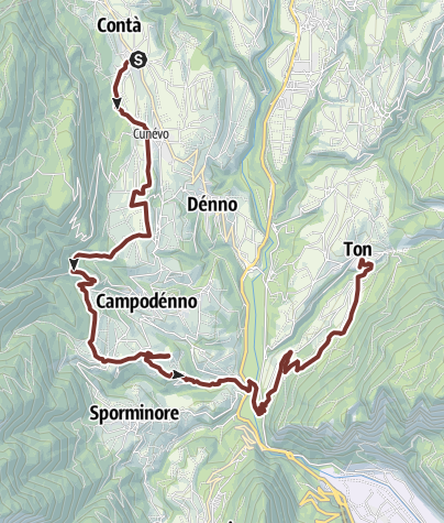 Cartina / Cammino Jacopeo d'Anaunia - VI tappa