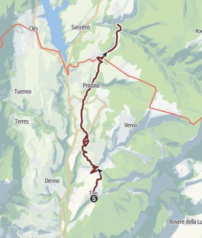 Cartina / Cammino Jacopeo d'Anaunia - VII tappa