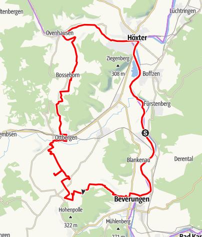 Karte / Weserhöhen - Tourenvorschlag 2