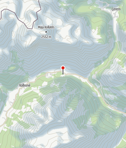 Map / Quku i Valbones : Rilindja Alpine Rooms