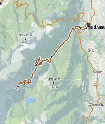 """Cartina / Sul tracciato della gara """"Raduno Malga Tuena"""""""