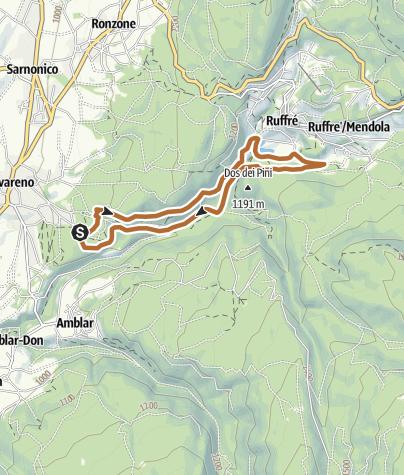 """Cartina / Via dell'Imperatore - Percorso Nero Nordic Walking Park """"Alta Val di Non"""" - Cavareno"""