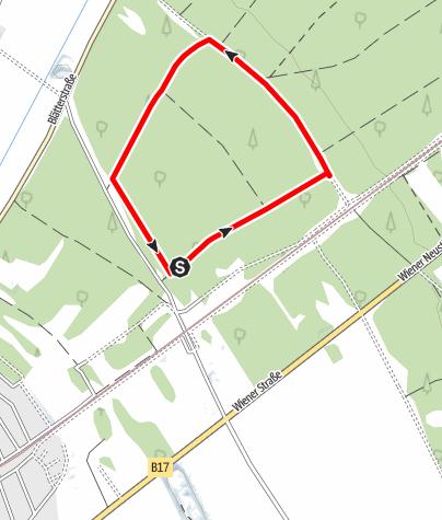 Karte / Laufstrecke Föhrenwald 3 km