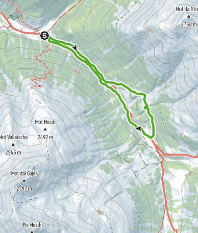 Karte / Bergwanderung Tablasot
