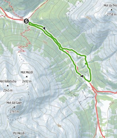Map / Bergwanderung Tablasot
