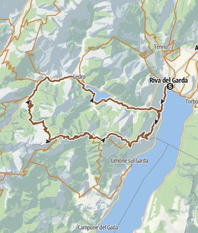 Map / 733. Riva del Garda - Prè - Passo Guil - Pregasina