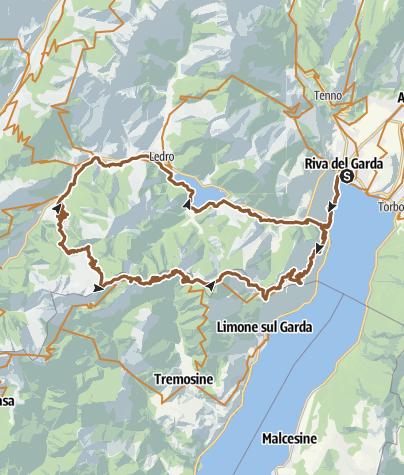Karte / 733. Riva del Garda - Prè - Passo Guil - Pregasina