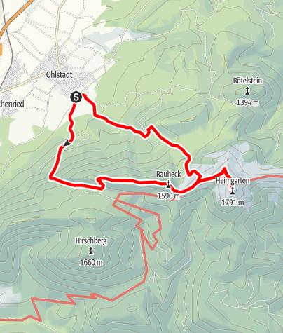 Map / Mountain tour - Heimgarten tour
