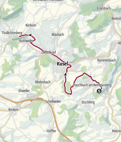 Karte / Haschbach (Remigiusberg) zur Burg Lichtenberg - Leading-Quality-Trail - Best of Europe