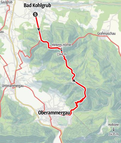 Karte / Bergtour - Vom Hörnle zum großen Aufacker