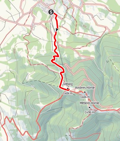 Karte / Bergtour - Hörnle-Tour Sommerweg