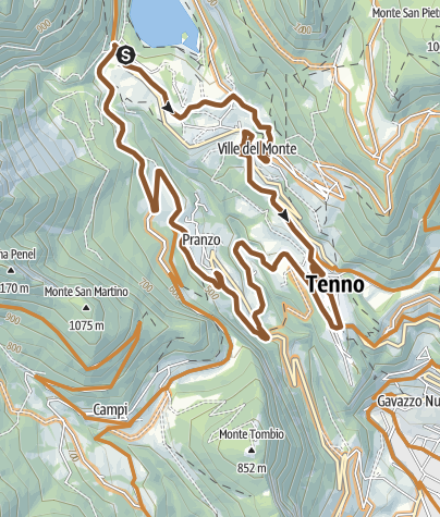 Cartina / 736. Tenno Tour (Cross Country)