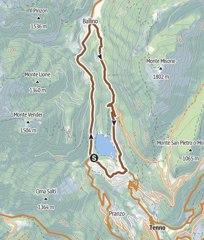 Karte / 738. Lago di Tenno - Ballino