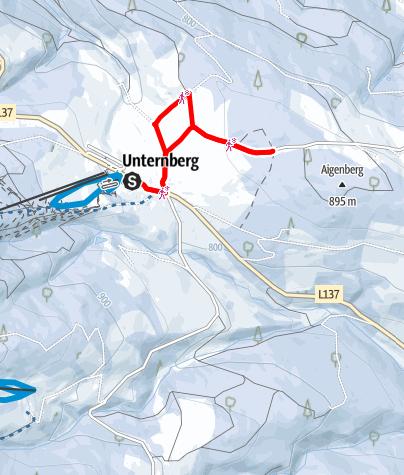 Térkép / Téli túra: Unternberg (St. Corona)
